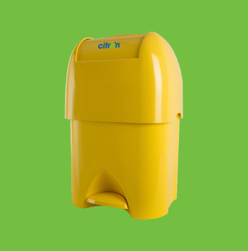 Soft clinical waste disposal unit in yellow